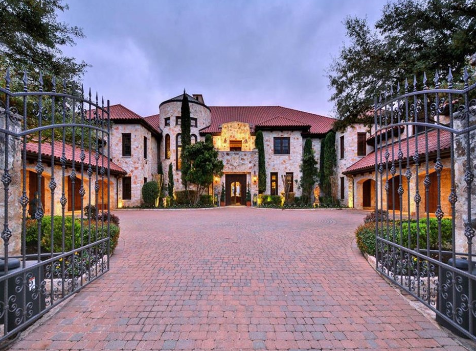 22 000 square foot spanish style mansion in austin tx for Castle style homes for sale