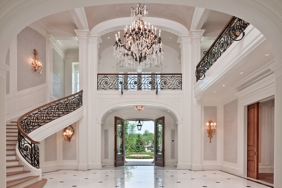 Luxury Mansion Foyer : Of the grandest residential foyers ever built homes