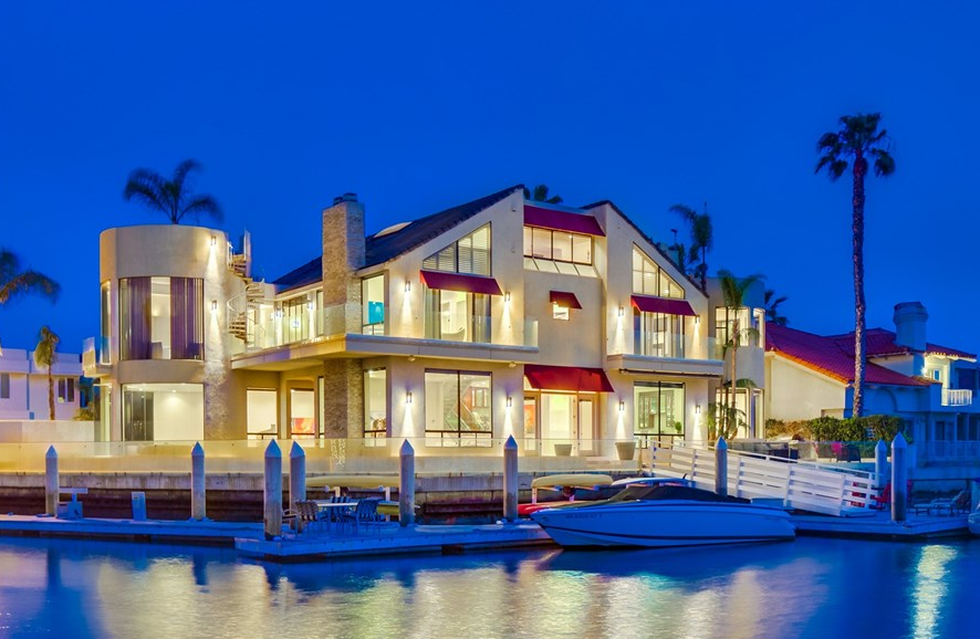 12 8 million contemporary waterfront mansion in coronado for Modern mansions in california