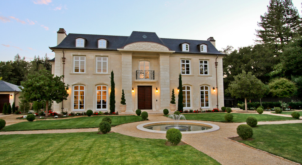 24 8 million french normandy mansion in atherton ca for French normandy house plans