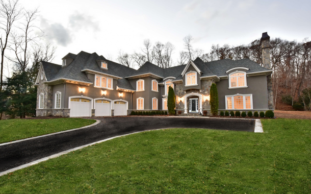 $3.4 Million Newly Built Stone & Stucco Mansion In Franklin Lakes, NJ