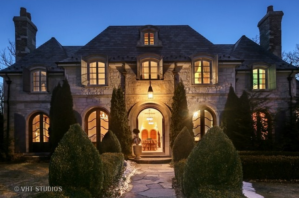 3 9 Million French Inspired Stone Home In Western Springs