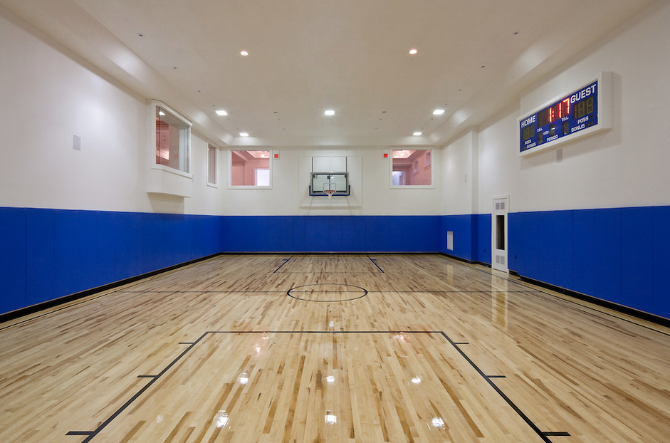 Mansion with indoor basketball court  Indoor Basketball Court | Homes of the Rich