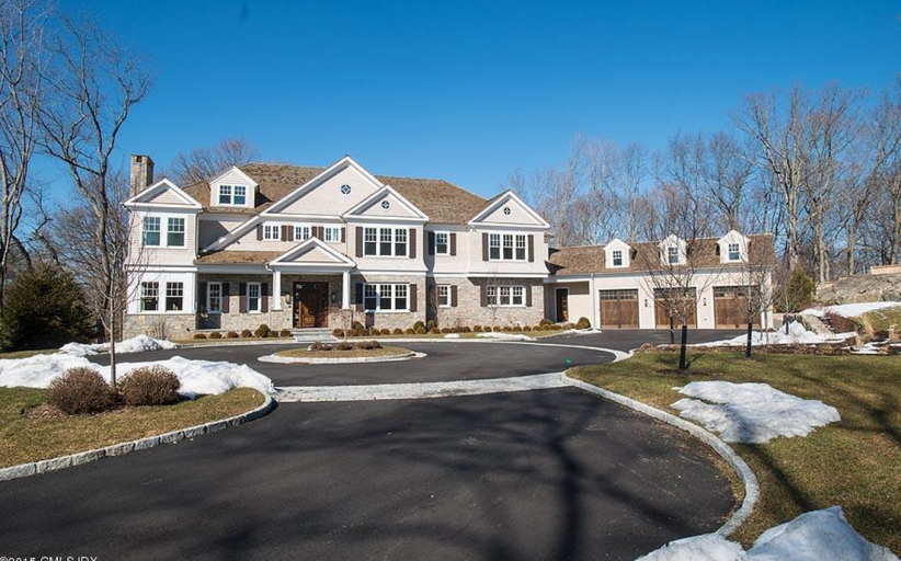 $7.495 Million Newly Built Shingle & Stone Mansion In Cos Cob, CT