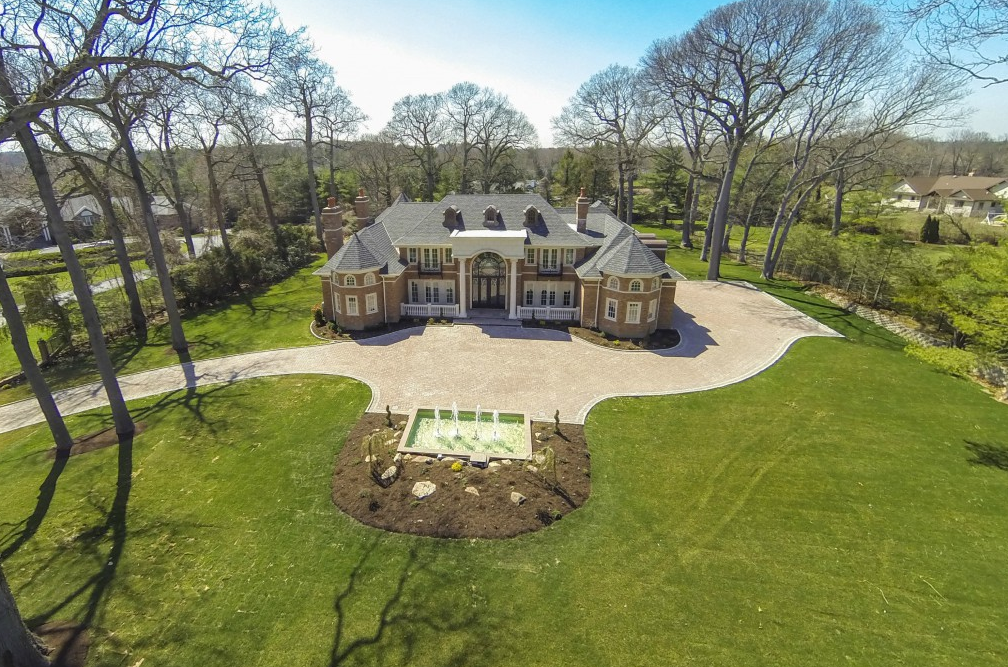 13,000 Square Foot Newly Built Brick Colonial Mansion In Upper Brookville, NY