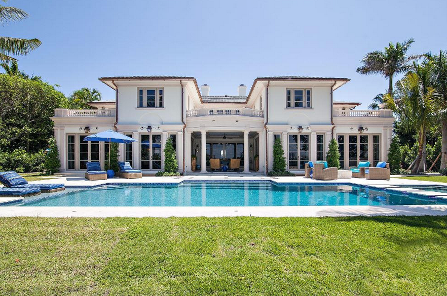 $37.9 Million Newly Built Lakefront Mansion In Palm Beach, FL