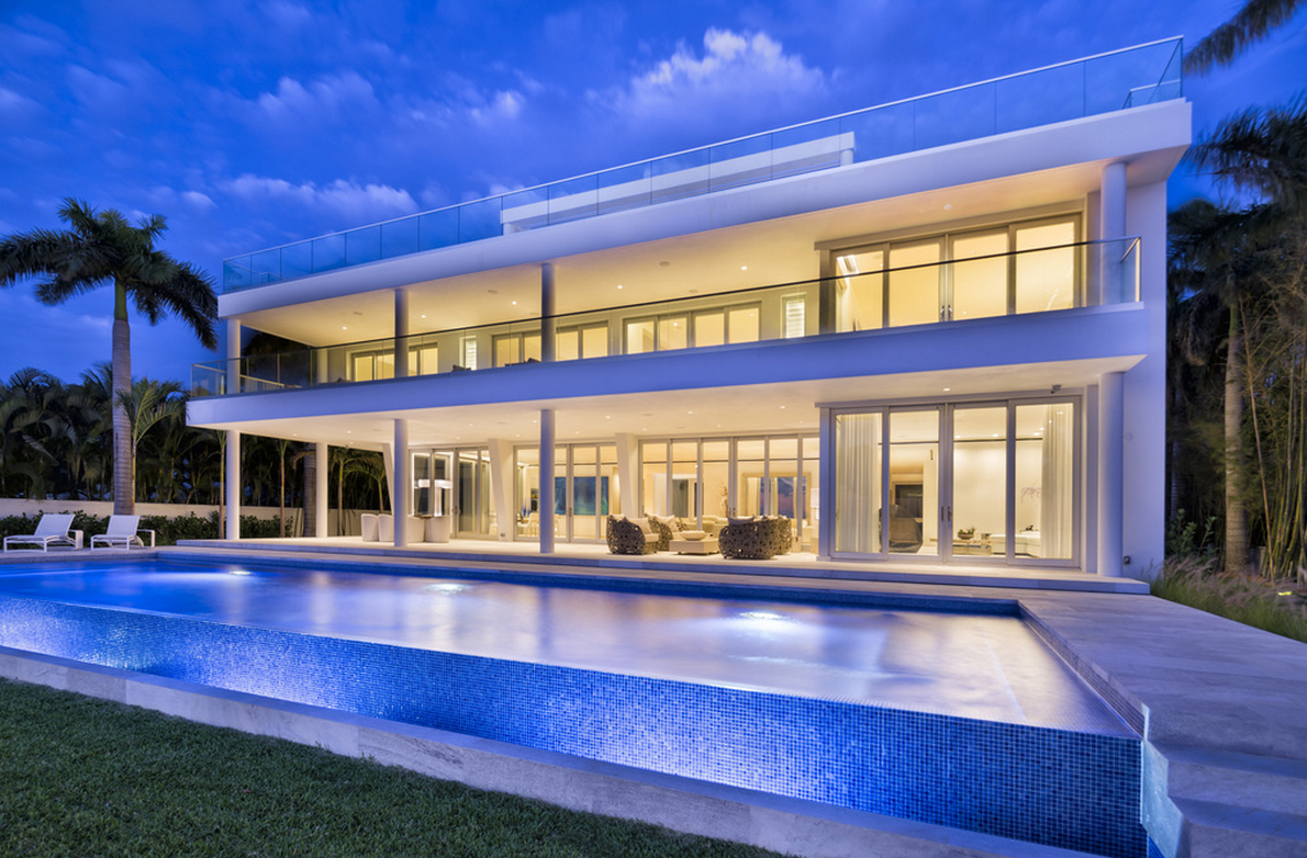 $29.7 Million Newly Built Contemporary Beachfront Mansion In Key Biscayne, FL
