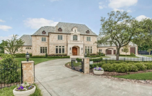 13,000 Square Foot French Inspired Stone Mansion In Plano, TX