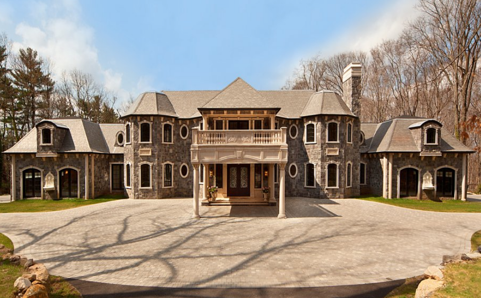 25,000 Square Foot Stone Mega Mansion In Saddle River, NJ Re-Listed