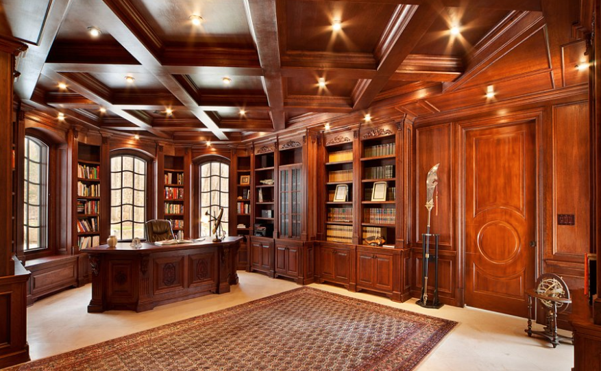 extraordinary luxury mansion living room | 25,000 Square Foot Stone Mega Mansion In Saddle River, NJ ...