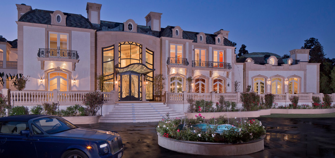 $72 Million 28,000 Square Foot French Chateau Mega Mansion In Beverly Hills, CA