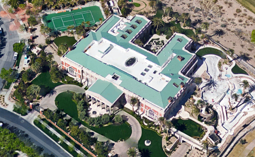 Aerial Pics Of Billionaire Sheldon Adelson S 44 000 Square Foot Las Vegas Mega Mansion Homes