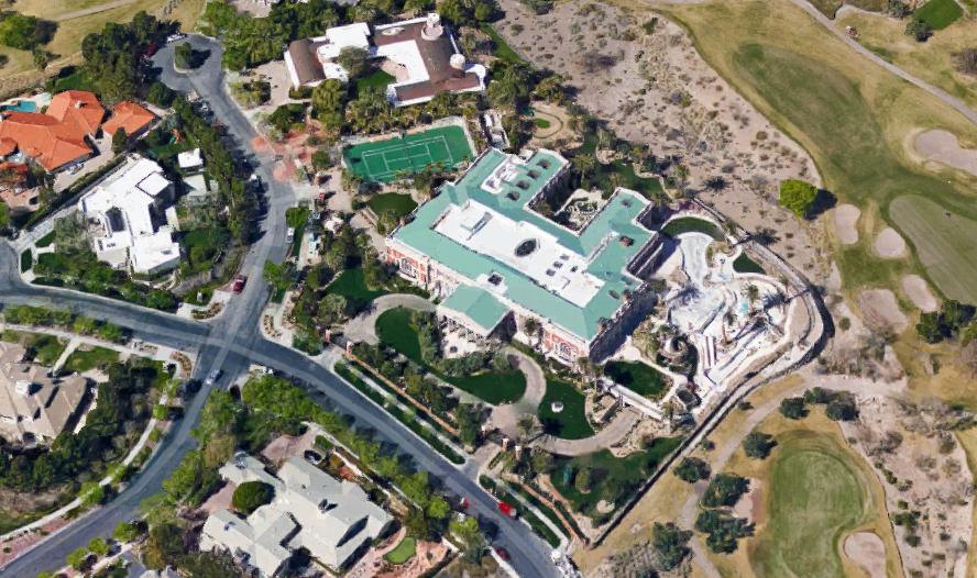 Aerial Pics Of Billionaire Sheldon Adelson's 44,000 Square Foot Las Vegas Mega Mansion