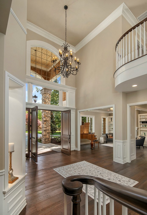Cost Of Painting Two Story Foyer : Million newly built shingle stone home in bellevue