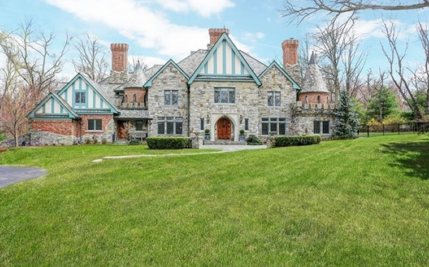 $3.65 Million Brick & Stone Home In Watchung, NJ