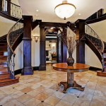Foyer w/ Double Staircase