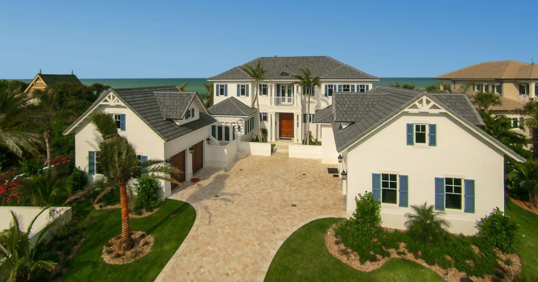 $5.995 Million Newly Built Indies-Inspired Oceanfront Mansion In Vero Beach, FL