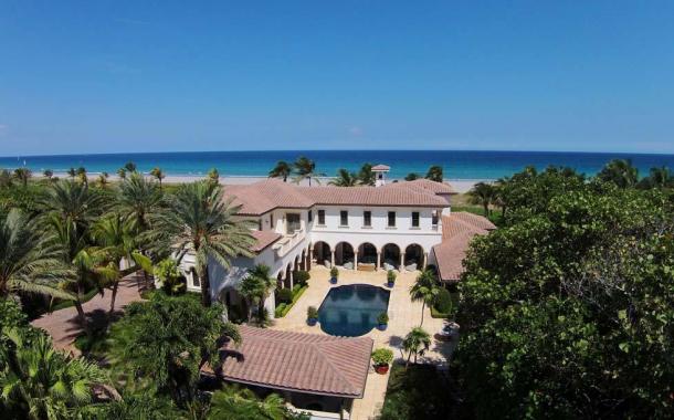 $19.975 Million Mediterranean Oceanfront Mansion In Delray Beach, FL