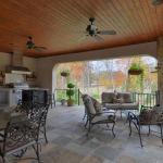 Covered Terrace w/ BBQ & Fireplace