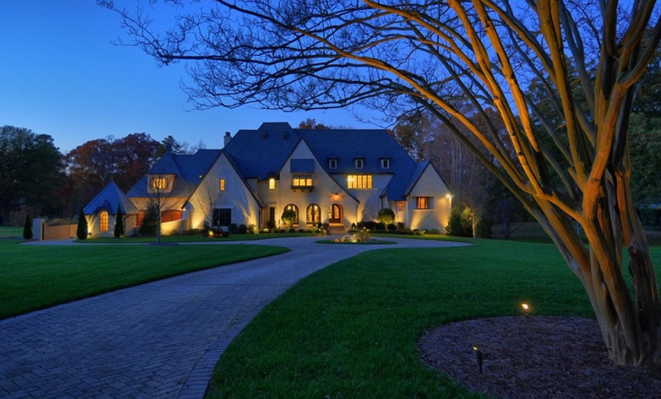 Million english country stucco mansion in charlotte - 5 bedroom houses for sale in charlotte nc ...