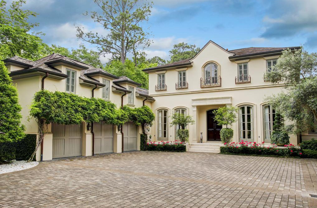 $5.375 Million Newly Listed English/French Inspired Home In Piney Point, TX