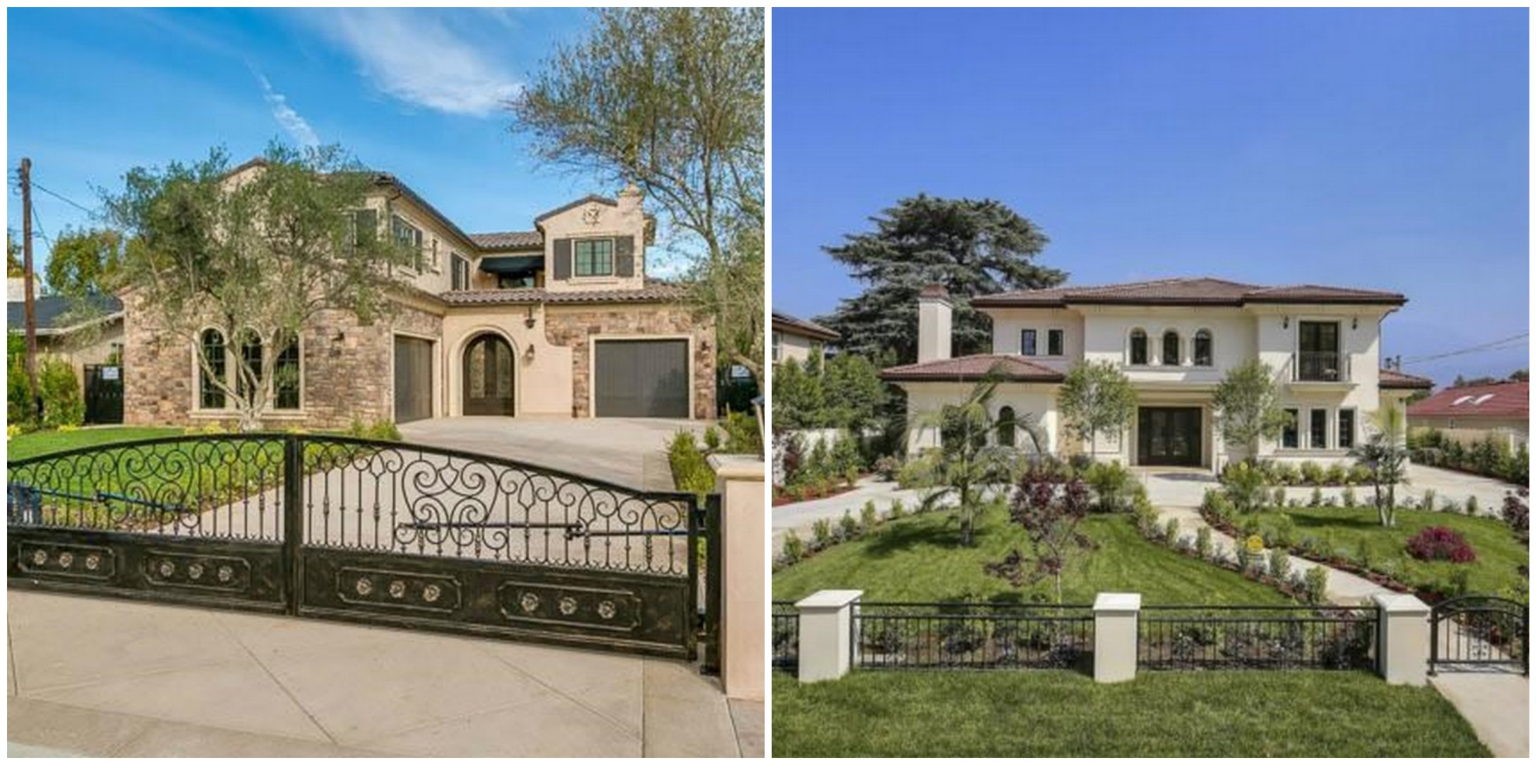 Two newly built 7 000 square foot gated homes in arcadia for Rich homes in california