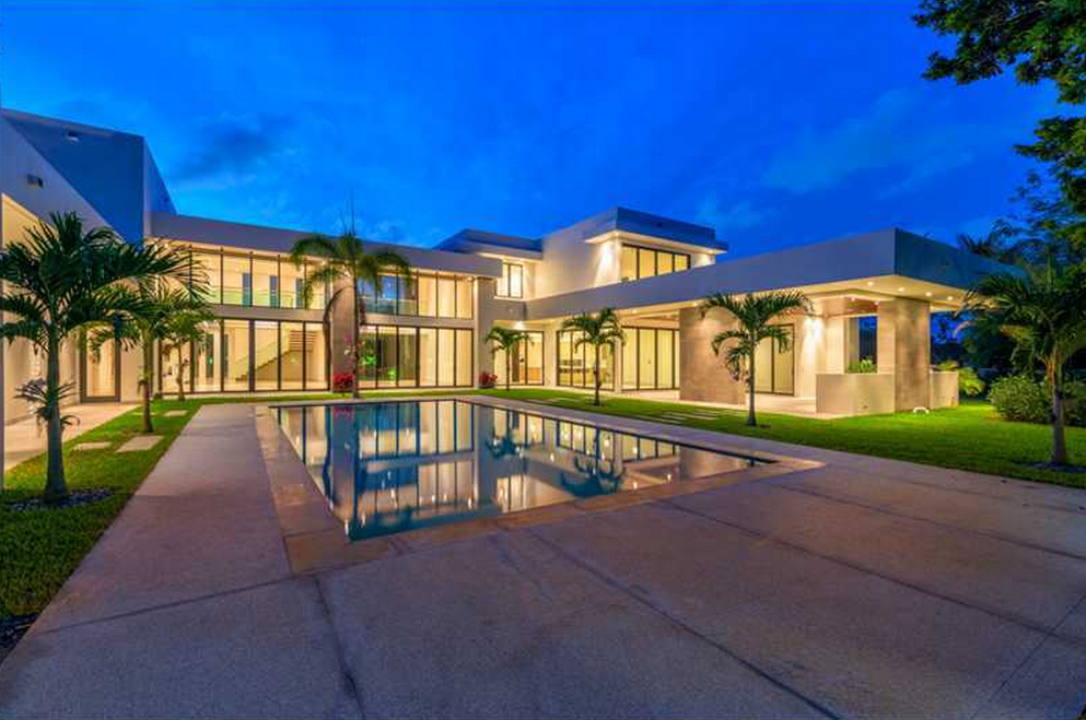 $5.75 Million Newly Built 12,000 Square Foot Contemporary Mansion In Pinecrest, FL