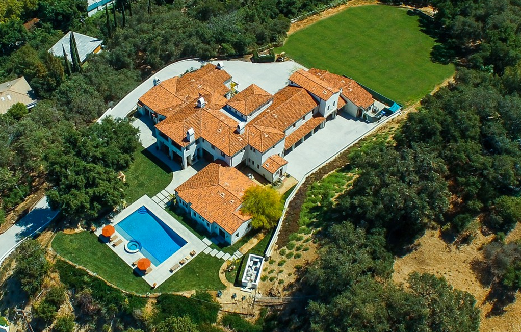 $24 Million Newly Listed Spanish Style Mansion In Beverly Hills, CA