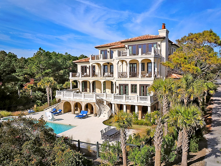 12 25 Million Oceanfront Mansion On Johns Island Sc Homes Of The Rich