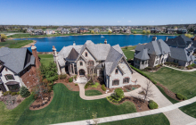 12,000 Square Foot Brick & Stone Lakefront Mansion In Saint Charles, IL