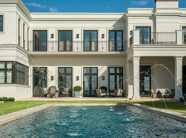 Million newly built neoclassical waterfront mansion for Neoclassic house
