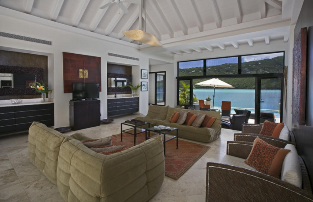 14 9 million 15 000 square foot contemporary beachfront for 10 foot living room