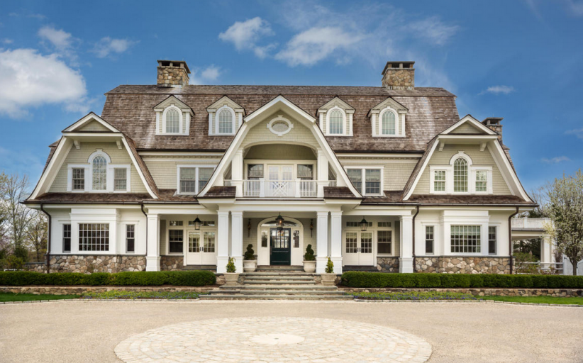$8.9 Million Gorgeous Stone & Shingle Colonial Mansion In New Canaan, CT