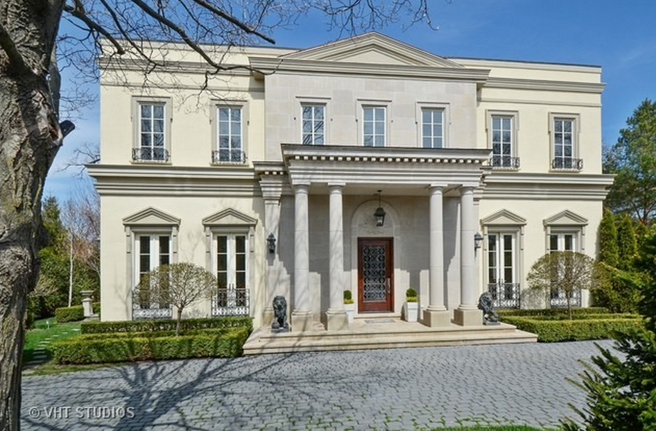 neoclassical style homes 3 983 million neoclassical home in winnetka il homes 14343