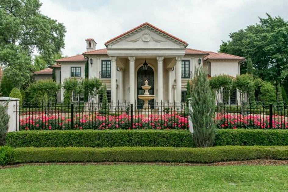 $4.25 Million Mediterranean Mansion In Dallas, TX