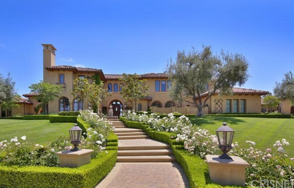 Million newly listed mediterranean mansion in for Rich homes in california