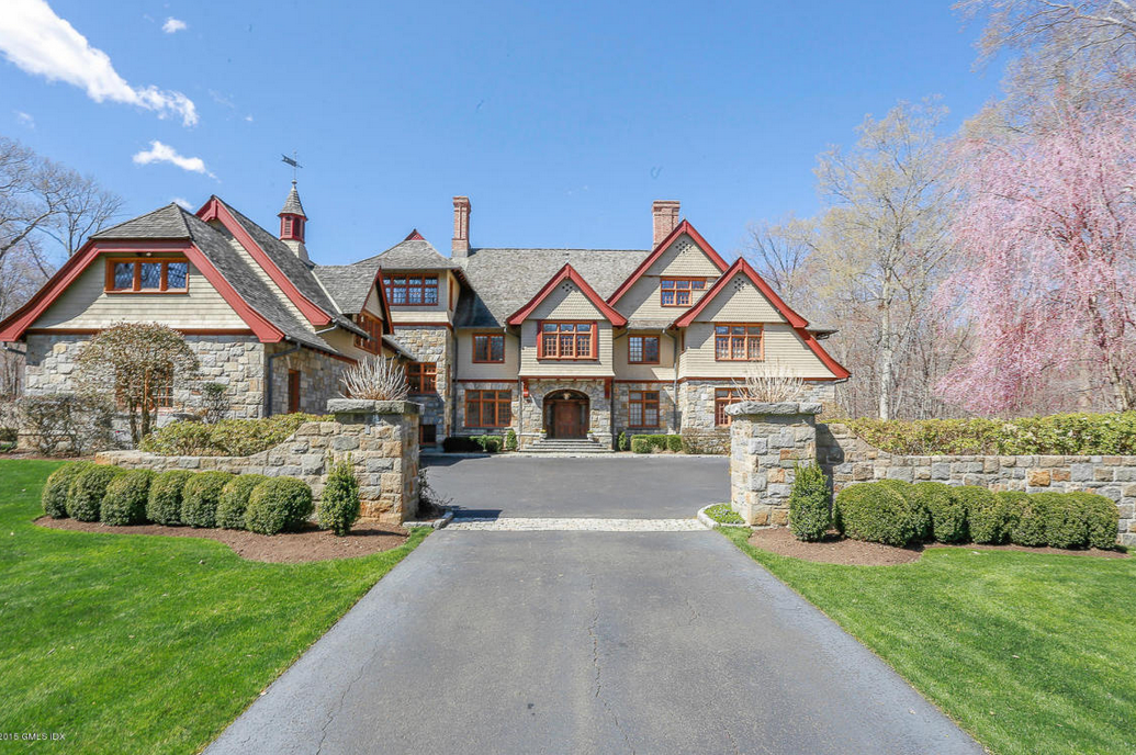 $8.495 Million English Manor Style Stone & Shingle Mansion In Greenwich, CT