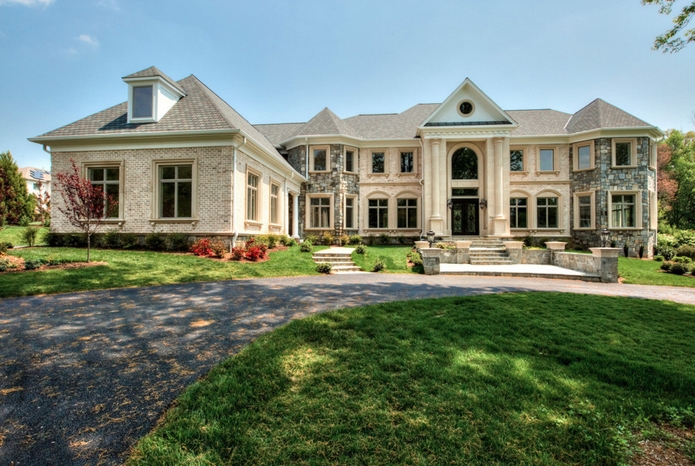 13,000 Square Foot Newly Built Brick & Stone Mansion In Great Falls, VA