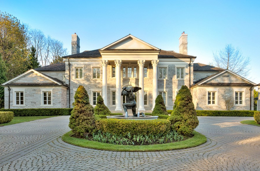 20 000 square foot neoclassical stone mansion in toronto for Cost to build a house in maryland