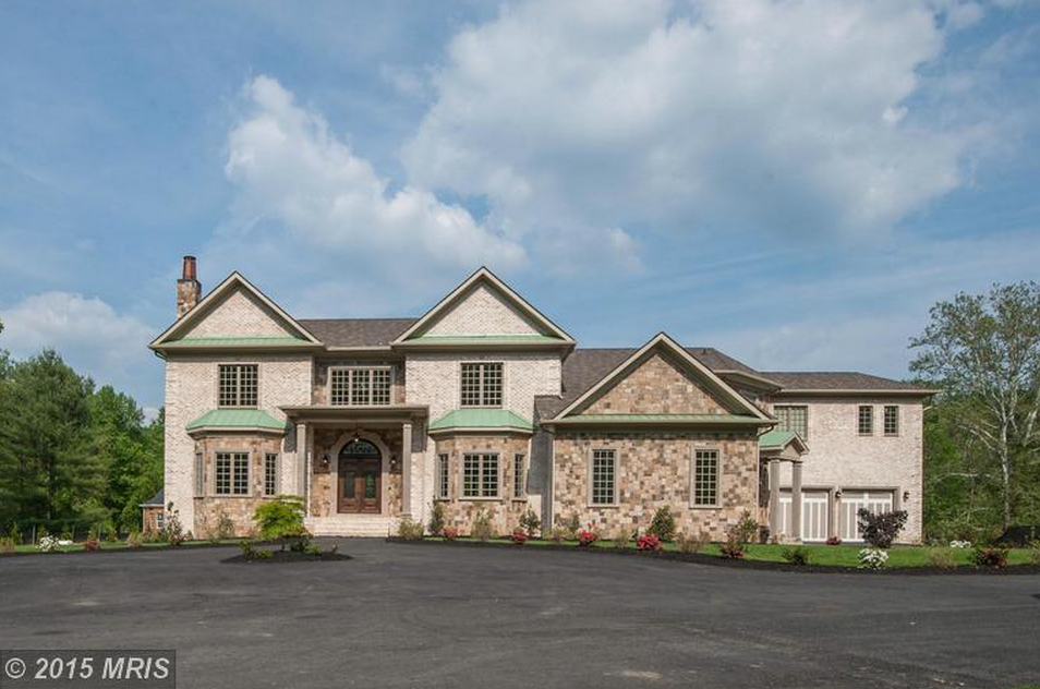 12,000 Square Foot Newly Built Brick & Stone Colonial Mansion In Great Falls, VA