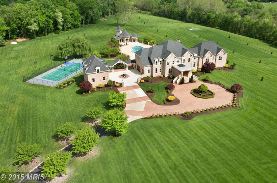 34 Acre Gated Estate In Gaithersburg Md Re Listed For 7 Million on One Story House Floor Plans