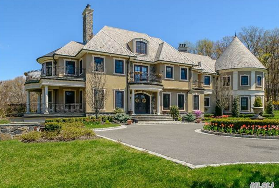 $14.5 Million 15,000 Square Foot Hilltop Colonial Mansion In Mill Neck, NY