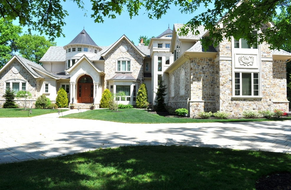 $4.9 Million 12,000 Square Foot Stone Mansion In Colonia, NJ