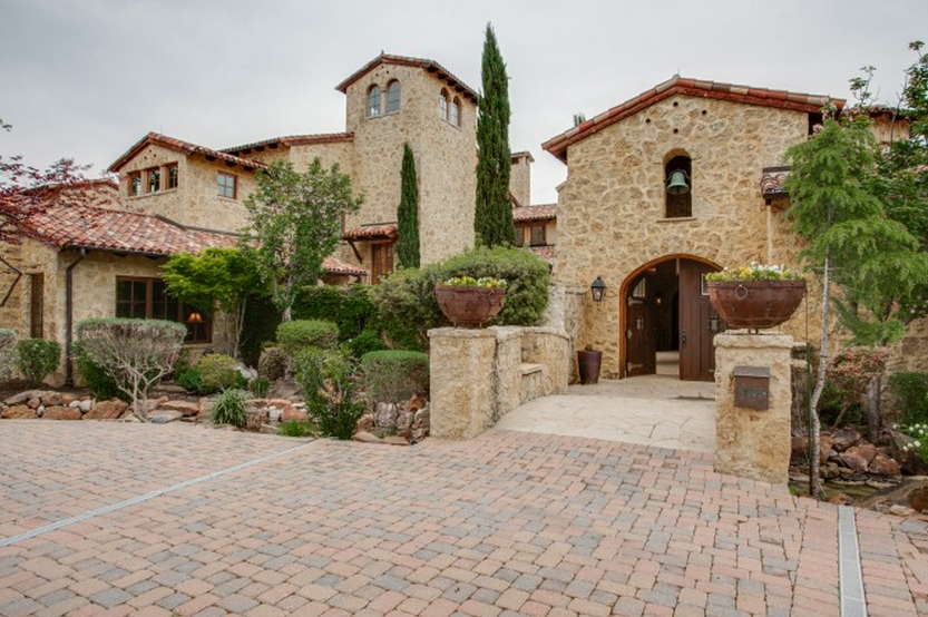 Million 13 000 square foot tuscan mansion in dallas for Spanish style homes for sale in dallas tx
