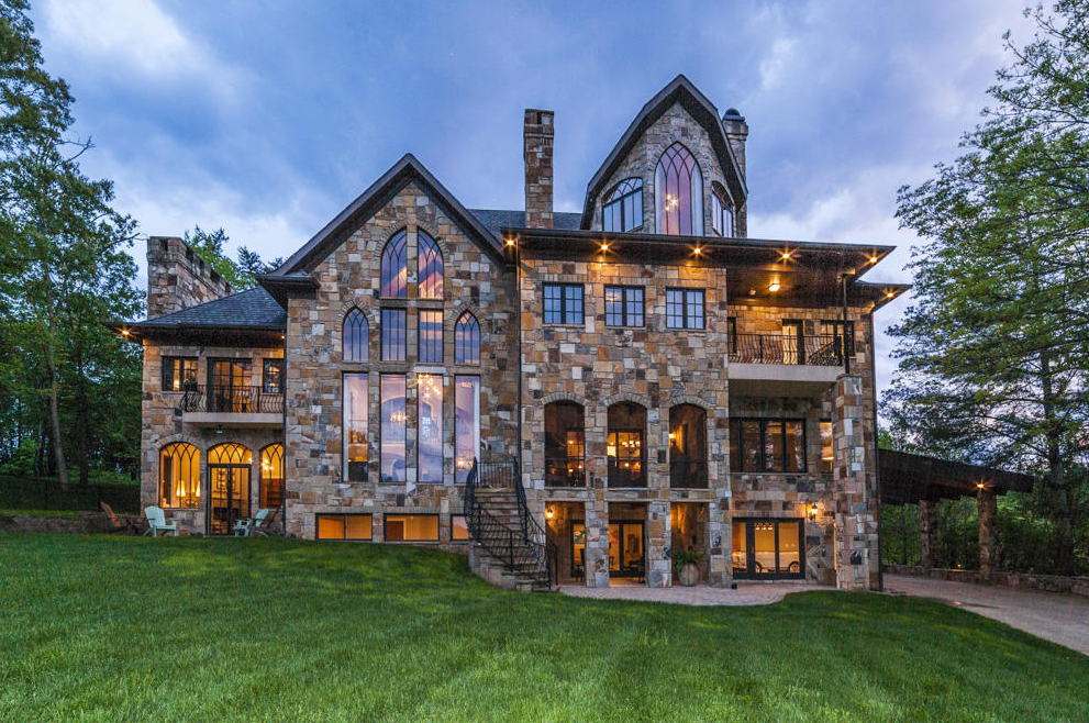 million stone mansion in knoxville tn homes of. Black Bedroom Furniture Sets. Home Design Ideas