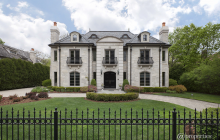 $2.995 Million French Inspired Stone Mansion In Glencoe, IL