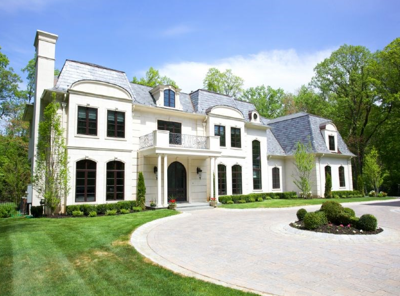 $6.398 Million Newly Built French Inspired Stone Mansion In Saddle River, NJ