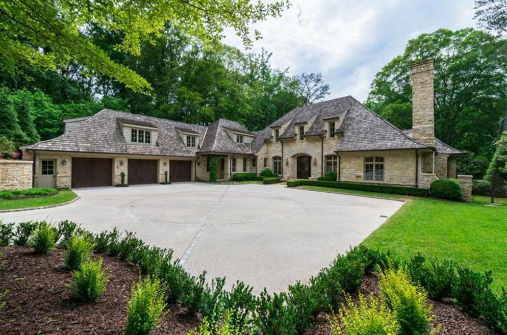 $3.75 Million European Inspired Stone Home In Atlanta, GA