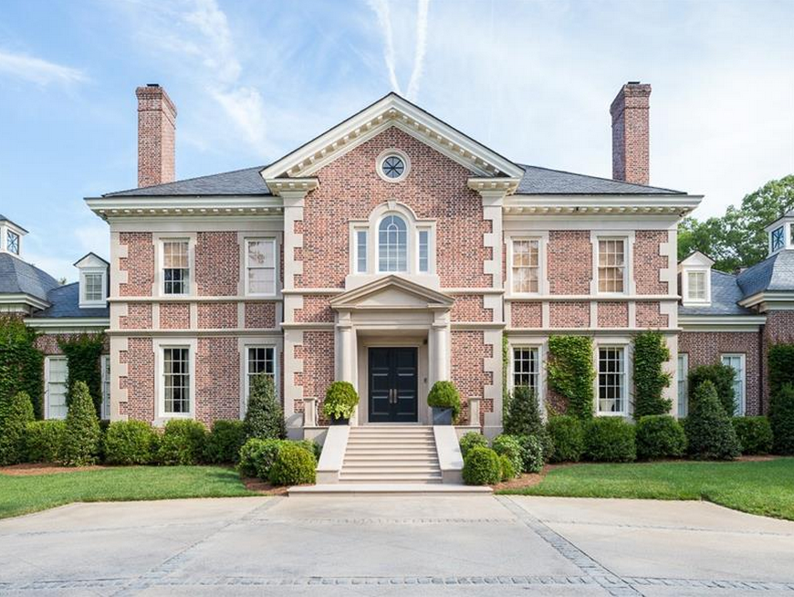5 Homes That Prove That Less Is More: 13,000 Square Foot Brick Mansion In Atlanta, GA Re-Lists