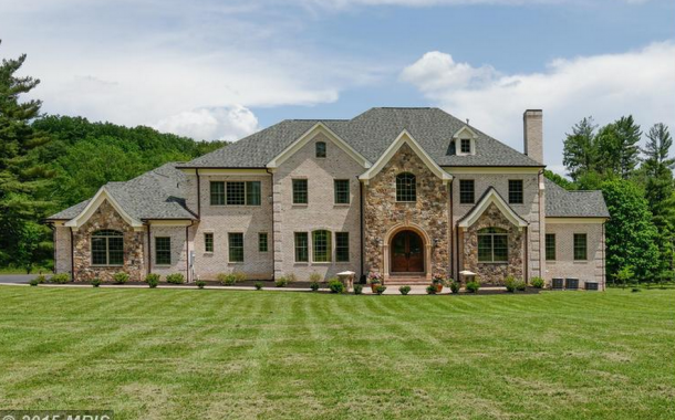 10,000 Square Foot Brick & Stone Mansion In Great Falls, VA
